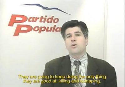 Ordóñez defiende el movimiento del lazo azul contra los secuestros de ETA