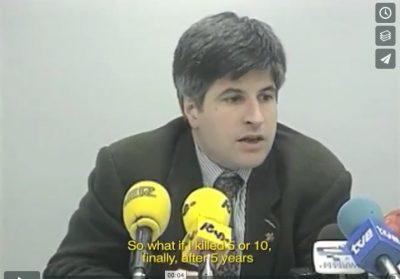 Ordóñez critica las bajas penas de prisión por asesinatos terroristas