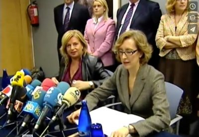 Rueda de prensa de la viuda y la hermana de Ordóñez ante el juicio por su asesinato