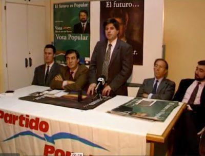 Ordóñez carga contra Alfonso Guerra en un acto de campaña en Tolosa