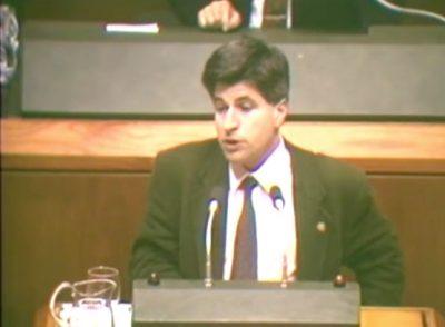 Rifirrafe en el Parlamento entre Gregorio Ordóñez y Fernando Buesa