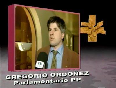 Ordóñez critica el reparto de responsabilidades en las comisiones del Parlamento vasco