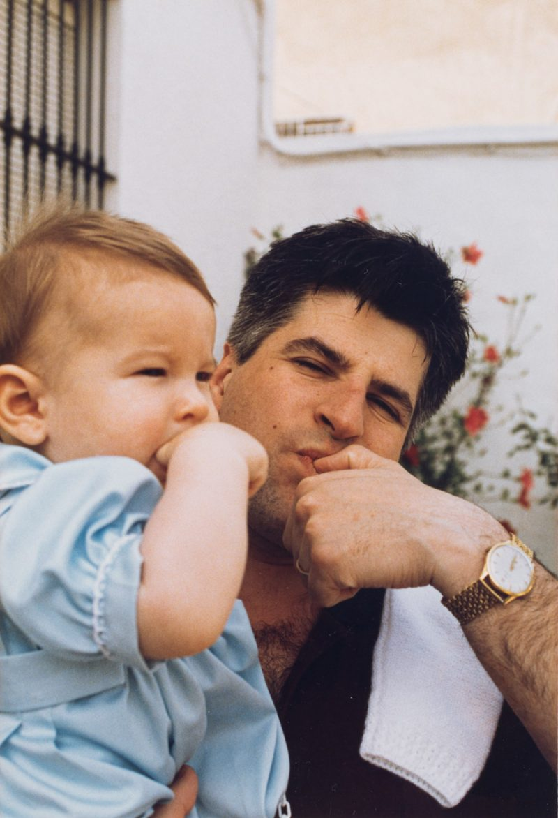 Gregorio Ordóñez y su hijo Javier